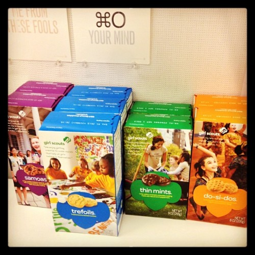 All stocked up on Girl Scout cookies… (at AOL Inc.)