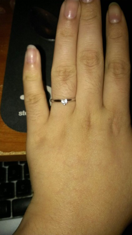 I don't think I showed you guys on tumblr yet!! I got my lovely ring!!