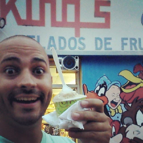 De maní!!!! :))))  (at King's Cream Helados De Frutas Naturales)