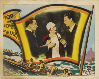 Lobby card for For the Love of Mike (1927). Sold here.