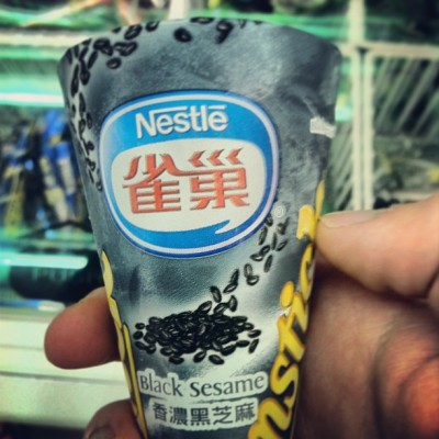 Black sesame drumstick #nestle #icecream