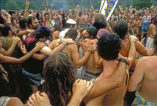 konagrown:  wearetheweavers:  1988 Rainbow Gathering of the Tribes in Texas - Interdependence Day celebration as a sunbow formed overhead at midday. I was there. We created a tantric energy with alternating female-male energies (not always corresponding to the bodies, of course) radiating from a cone of crystals in the center of the Circle. This began at dawn. It was mindblowing, magickal, and life-altering.  i love you
