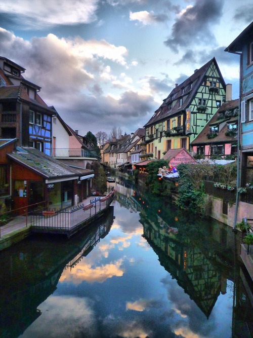 Dusk, Colmar, France photo via henri