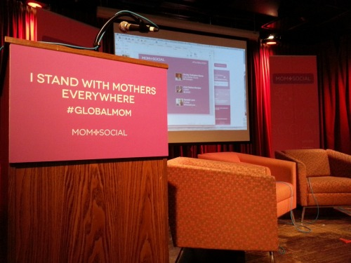 The stage is set for today's #momplusocial event at 92YTribeca. We'll be livecasting. First panel starts at 10 am.