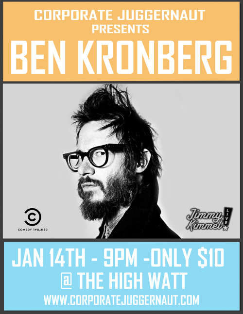 I'll be on this show with the hilarious and loco Ben Kronberg. Be there or be circle.
