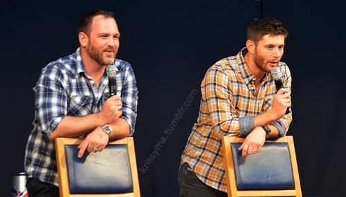 krissyma:  Ty Olsson & Jensen Ackles May 11,2013 Jus In Bello Supernatural Convention in Rome/Italy