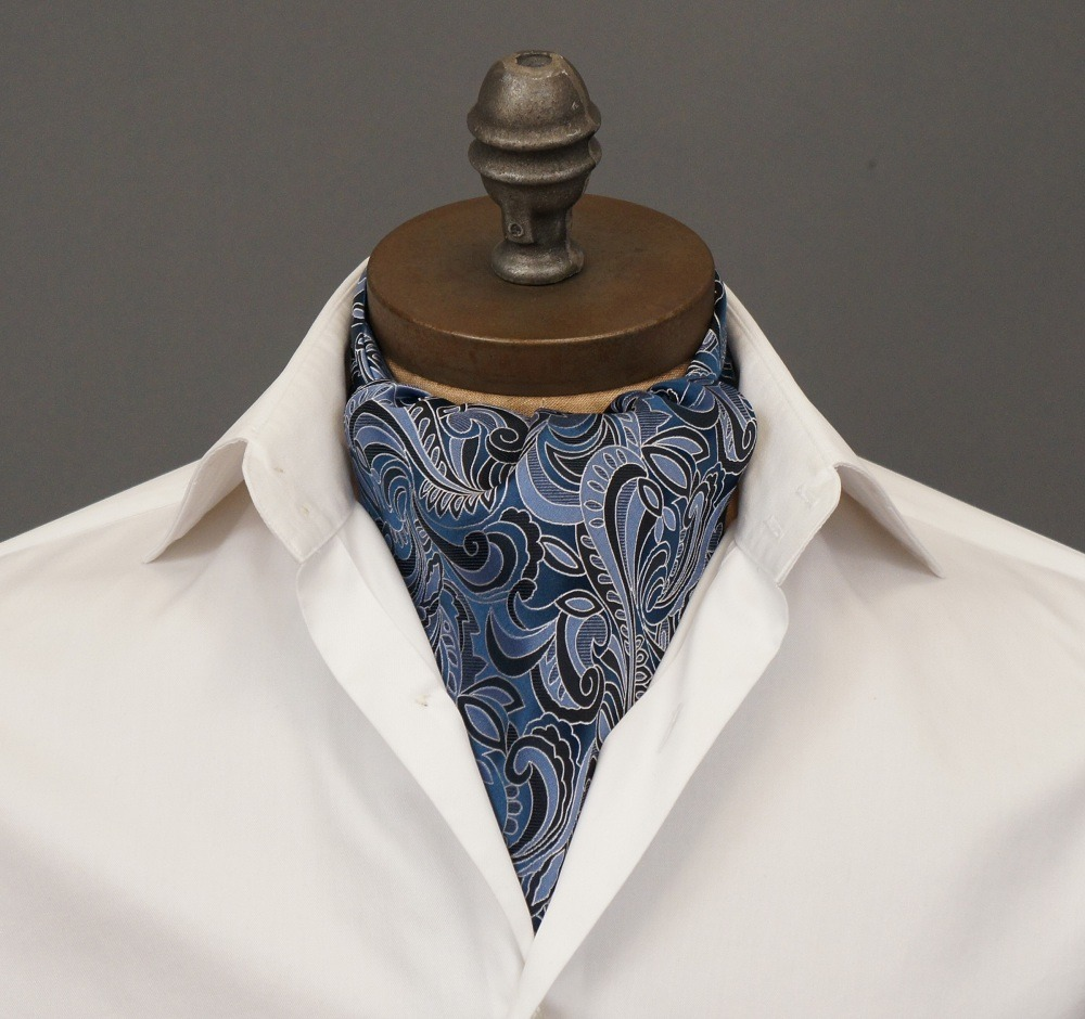 "ascottie:  New Ascot Arrival! Introducing the Ross Ascot Tie by Ceravelo. *Note: This ascot is ONE OF A KIND. If you click the link and it displays as ""Temporarily Unavailable,"" it has been sold. However you can request to be notified if/when we create more of this design."