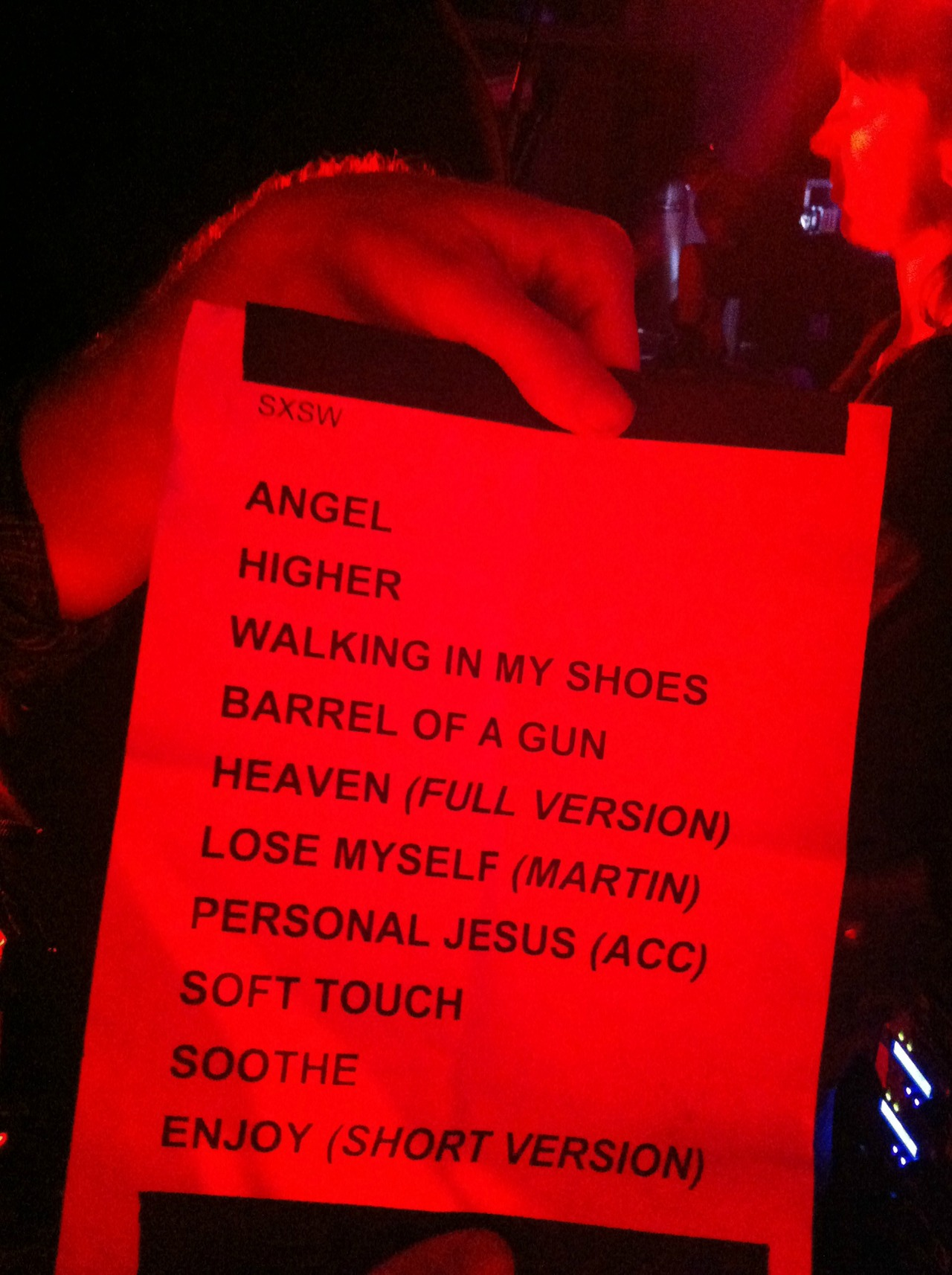 Setlist from Depeche Mode's showcase at South By Southwest tonight