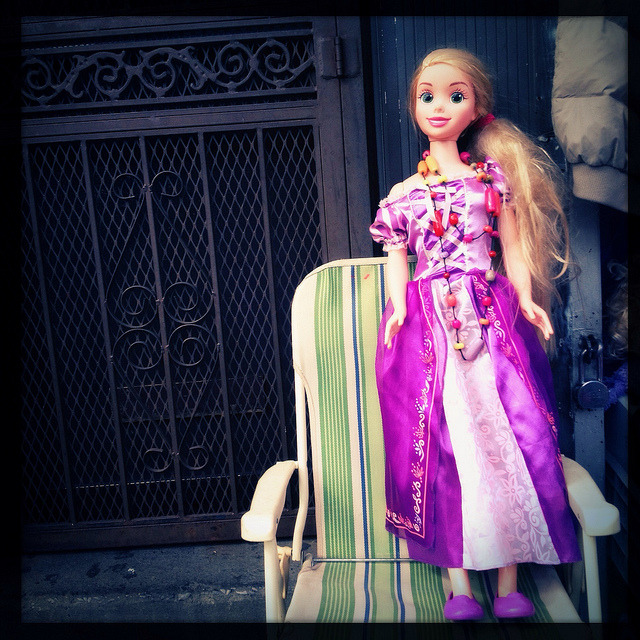 life size barbie. corona. on Flickr.I walked through Jackson Heights and Corona this weekend with my boyfriend - it was so gorgeous on Saturday that we decided we were long overdue for a walk. At some point on 37th Avenue, we found a garage sale that had this life-size Barbie doll.