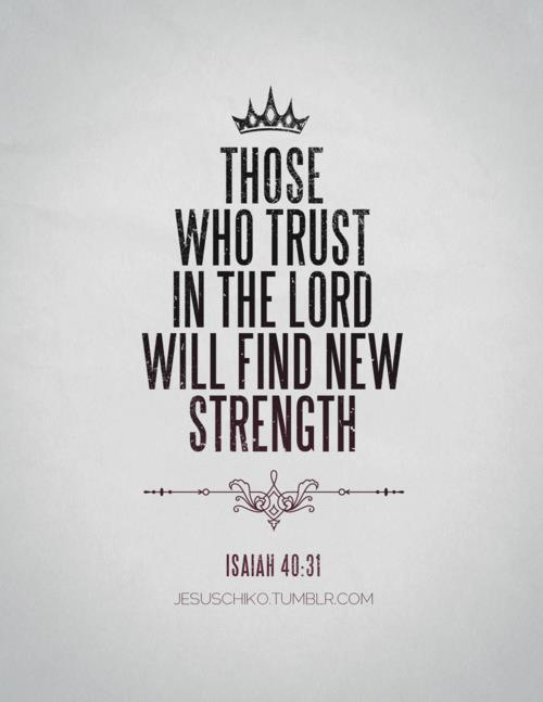 "spiritualinspiration:  "" He gives strength to the weary and increases the power of the weak"" (Isaiah 40:29, NIV). Oftentimes, when we are facing a difficulty, it's easy to become weary in our minds and emotions. Trying to figure it all out in our own strength can be exhausting. But we weren't meant to try to figure everything out, we were meant to trust. We were meant to call on Him and let Him be the hero of our story! The Bible says in Isaiah that when you cry to God for help, as soon as He hears, He will answer you! He will give you strength when you are weary and increase your power when you feel weak. No matter what is going on in your life today, God is greater than any obstacle or difficulty you may be facing. Do you need strength to overcome a challenge in your life? Do you need power to stand strong in the midst of a storm? Call on Him and He will hear you. Open your heart, and by faith, receive His strength and might. Let Him empower you to live in victory and overcome all the days of your life!"