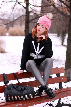 lookbookdotnu:  Pink Beanie (by Wioletta Mary Kate)