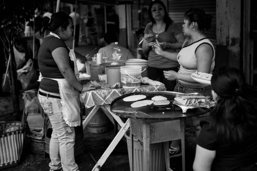 first day in Mexico, in Mexico City. discussion at the taco stand in the Roma district.