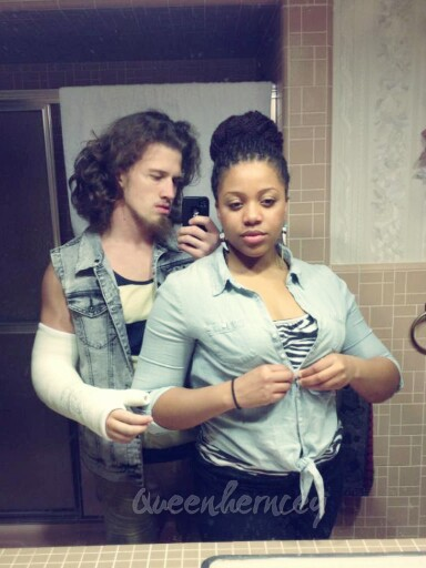blackgirlwhiteboylove:  queenherncey:  'On our way out' of me and my mister. 4/13  Follow my blog: http://blackgirlwhiteboylove.com