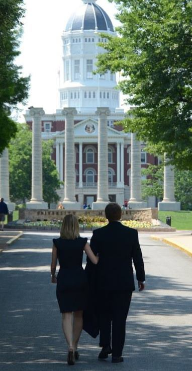 """This photograph, walking with my fiancé toward my law school graduation is my American Dream fulfilled."" - John D. Risvold via email"