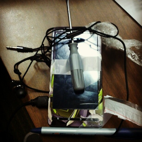 In order to make this bad phone into a better one…we taped things to it. #Mature