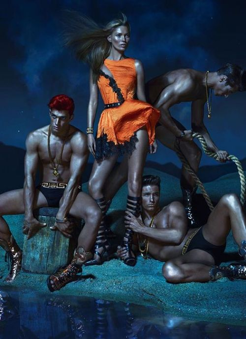 Kate Moss in Versace's spring campaign, photographed by Mert Alas & Marcus Piggot. See more pics, over on Dressed.