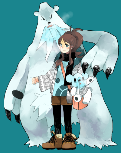 unapologeticallyuncool:  touko and those bears by ~piyohiko