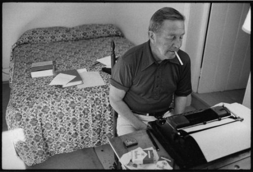 "theparisreview:  Selections from the John Cheever Journals, 1946–1981 ""Reading my own stories is like some intensely unhappy relationship with a mirror. The work is done and to return to it seems idle in the strongest sense of the word—a demeaning sense of time squandered, of letting a splendid afternoon parade across the lawns without doing any work, without participating or celebrating in this parade."" ""I think of George Orwell on walking."" ""Hemingway shot himself yesterday morning. There was a great man. I remember walking down a street in Boston after reading a book of his and finding the color of the sky, the faces of strangers and the smell of the city heightened and dramatized. The most important thing he did for me was to legitimize manly courage, a quality that I had heard, until I came on his work, extolled by scout-masters and others who made it seem a fraud. He put down an immense vision of love and friendship, swallows and the sound of rain. There was never, in my time, anyone to compare with him."" ""That the exploration of candor in writing does not seem to me a universal domain. There are in literature turning points or feats of discovery—Flaubert and Joyce—that seem universal, but sexual candor I think not. It is the mastery of men like Miller, Roth and Mailer that gives their work its power. These seem to be intimate and singular accomplishments. Now that Roth, not without assistance, has opened up the playing fields of masturbation we find the field thronged with incompetents who feel that self-abuse is, in itself, adventurous, comical and visionary. Phil's self-abuse is brilliant."" ""On my notes for a speech I find that I describe myself as a traveler from the north. That sense of estrangement that seems to me to be perhaps at the heart of literature—that persuasion—quite unspoken as I understand it—that we have seen other worlds than this and will see strange worlds to come."" ""I had a dream that a brilliant reviewer pointed out that there was an excess of lamentation in my work. I had, fleetingly, this morning, a sense of the world, one's life, one's friends and lovers as a given. Here it all is, comprehensible, lovely, a sort of paradise. That this will be taken quite as swiftly as it has been given is difficult to remember."""