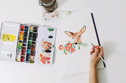 wildstag:  work in progress by oanabefort, on Flickr.