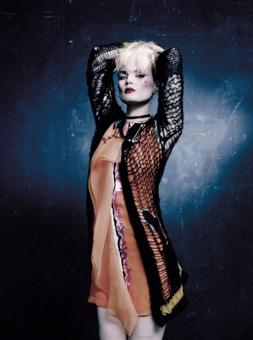 """Pretty Vacant"" Guinevere Van Seenus by Paolo Roversi for Vogue UK May 2013"