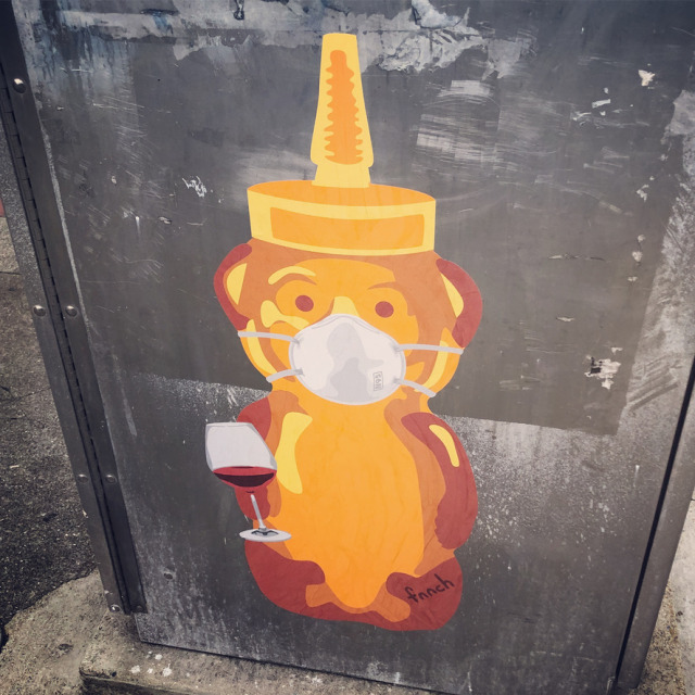 Honey Bear isnt the only one using wine to get through this lockdown. #honey bear#fnnch#san francisco