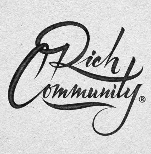 Typeverything.com Rich Community logotype by Voltio. (via Lettercult)