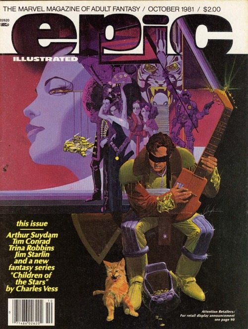 comicblah:  Epic Illustrated #8 cover by Howard Chaykin