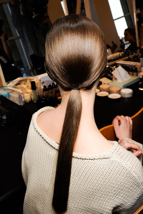 Low pony tails; this look is totally effortless!