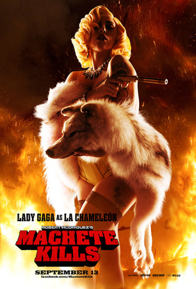 "trashwire:  Lady Gaga's big-screen debut in Robert Rodriguez's ""Machete Kills""!"