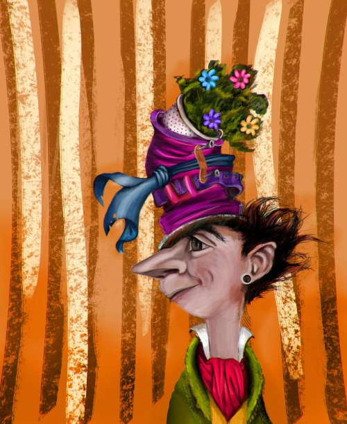 "eatsleepdraw:  ""We're all mad here"" The mad hatter"