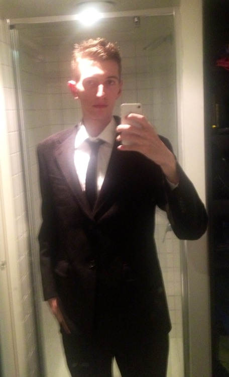 Forgot to upload this the other day of me wearing a suit for, like, the first time ever…