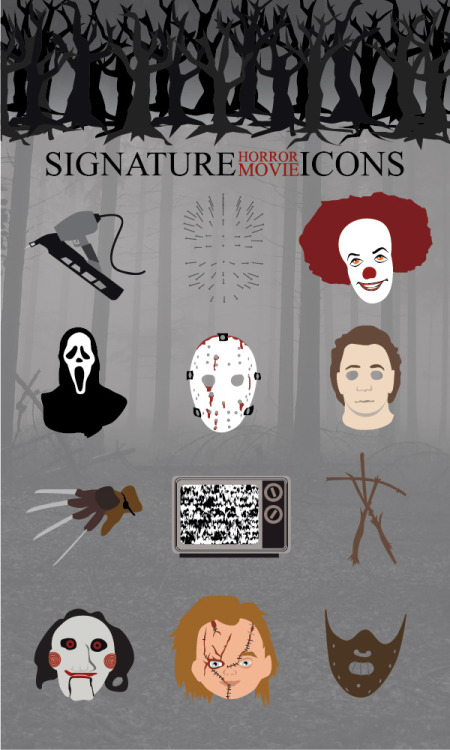 Infographic: Signature Horror Movie Icons :: Paste