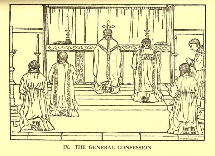 Memories of King's College Chapel. 'The General Confession' from the Alcuin Club's 'Illustrations of the Liturgy'. 1912.