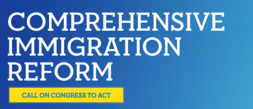 Take action on Immigration Reform We're as close as we've ever been to comprehensive immigration reform, but it's going to take an outpouring of support for Congress to act. Tell Congress to pass comprehensive immigration reform.