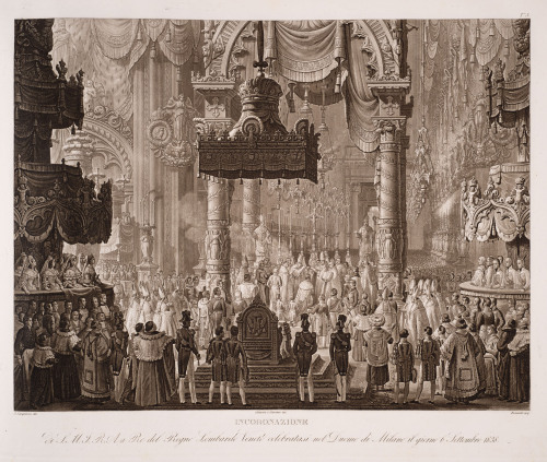 Coronation of Ferdinand I, Emperor of Austria, as King of Lombardy-Venetia; 1838, the work of Alessandro Sanquirico