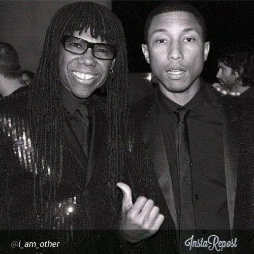 #Regram @I_am_other Nile Rodgers (Grammy-winning musician) x @Pharrell