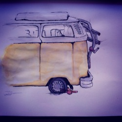 Today I painted my neighbour's camper.