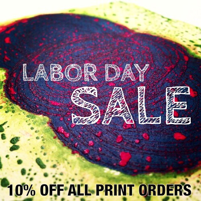 Starting Monday at 12am EST all prints in my shop, stephaniemote.net/shop, are 10% off the list price!  Happy Labor Day!