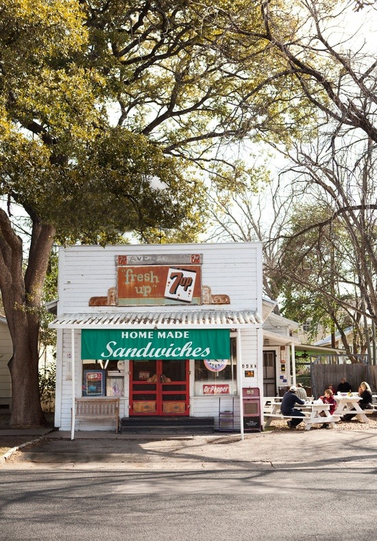 magnoliamerryweather:  (via South / Avenue B Grocery— #Austin, Texas.)  This reminds me of Pekadill's in Whitehall, MI (Just an older version…)  And now I'm missing home like crazy.
