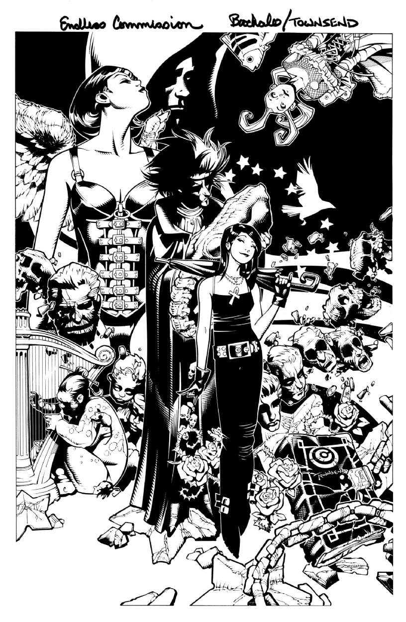 brianmichaelbendis:  The Endless by Chris Bachalo & Tim Townsend