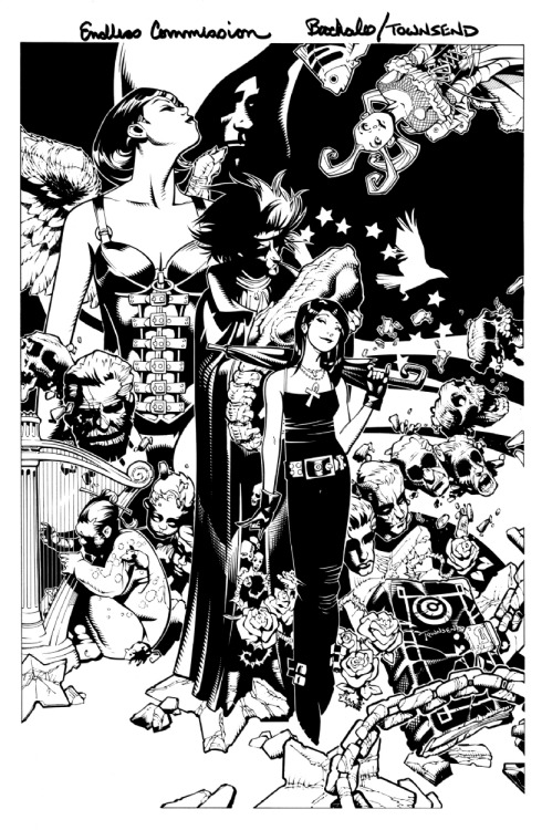 brianmichaelbendis:  The Endless by Chris Bachalo & Tim Townsend  He did one of The Sandman issues, right? I kinda wish he was drawing more like this style then.