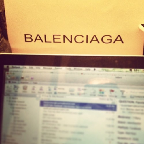 all work + no play makes dee a dull girl. problem solved. #balenciaga