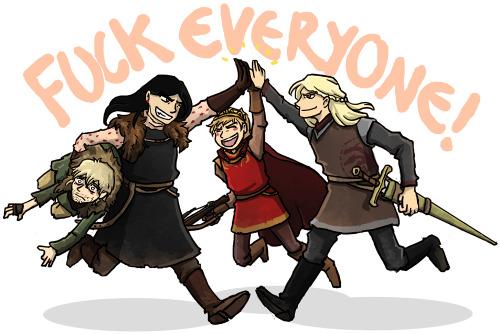 thrumugnyr:  Based onthispost I present you: ASOIAF villain team up.