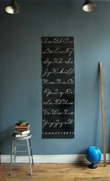 (via Large Alphabet Cursive Charts | Wall Pieces | Agent Gallery Chicago)