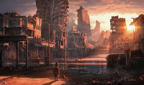 syfycity:  Great artwork of an apocalyptic world