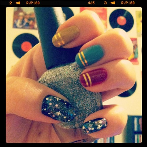paigeatwork:  #manimonday #manicuremonday can you guess the theme of these #nails ? #nailart #galaxynails #nailglam #nailparty #nailporn #startrek #trekkie #nailswag #nailaddict