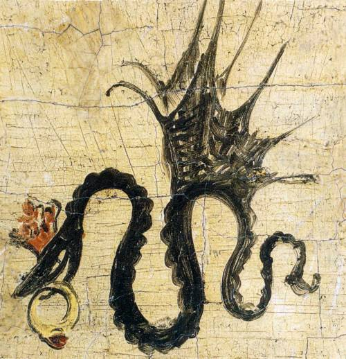 2013: Year of the Snake The signature of Lucas Cranach the Elder (1514) of a winged snake with a ruby ring, which he used on his paintings from the year 1508 onward.