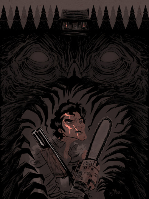 If I wasn't already pumped for a new Evil Dead movie to come out, particularly one that doesn't suck, imagine how extra pumped I was to have been asked to design an Evil Dead tribute poster during the same opening week. Ash/Bruce Campbell is quite an interesting fellow to draw, and I would happily draw him again. Hopefully someone out there wants a sweet Brisco County Jr. poster next :) You can get prints of this bad boy here: http://www.strangekidsclub.com/2013/05/03/hail-to-the-king-baby-our-evil-dead-2-print-is-now-on-sale/
