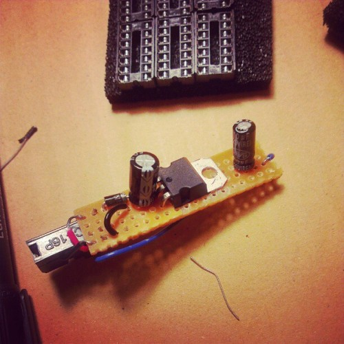 Homemade 5v power for a doepfer eurorack buss board