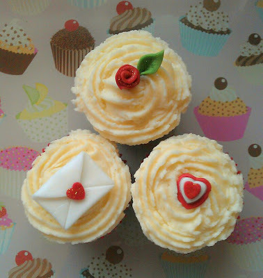 Valentine's Day Cupcakes made by Miss Peachy Cakes
